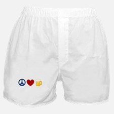 Peace Love Beer Boxer Shorts