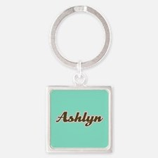 Ashlyn Aqua Square Keychain