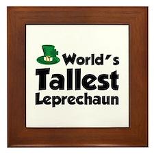 World's Tallest Leprechaun Framed Tile