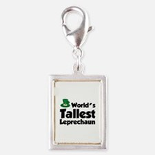 World's Tallest Leprechaun Silver Portrait Charm
