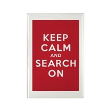 Keep Calm and Search On (Basic) Rectangle Magnet (