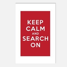 Keep Calm and Search On (Basic) Postcards (Package