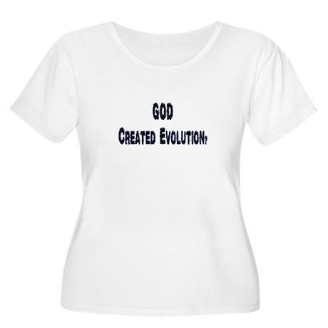 God Created Women's Plus Size Scoop Neck T-Shirt