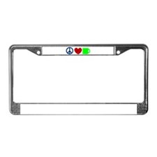 Peace Love Coffee License Plate Frame
