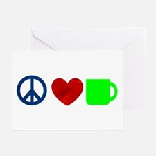 Peace Love Coffee Greeting Cards (Pk of 20)