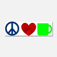 Peace Love Coffee Car Magnet 10 x 3