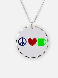 Peace Love Coffee Necklace