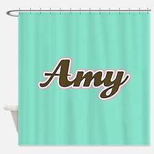 Amy Aqua Shower Curtain