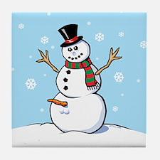 Naughty Snowman Tile Coaster