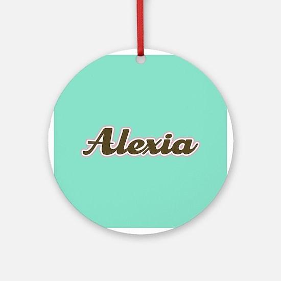 Alexia Aqua Ornament (Round)