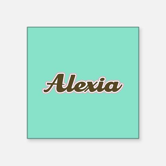 Alexia Aqua Sticker