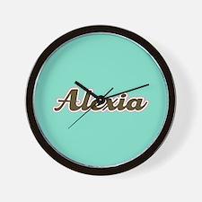Alexia Aqua Wall Clock
