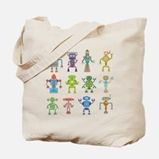 Robots by Phil Atherton Tote Bag