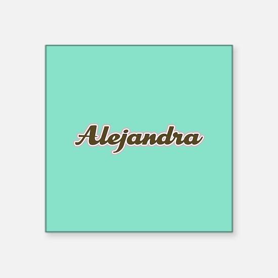 Alejandra Aqua Sticker