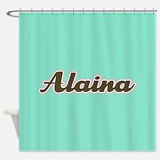 Alaina Aqua Shower Curtain