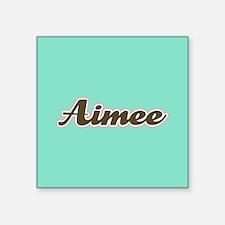 Aimee Aqua Sticker