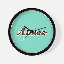 Aimee Aqua Wall Clock
