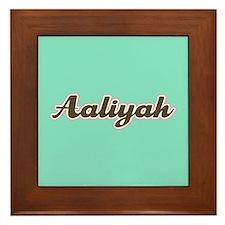 Aaliyah Aqua Framed Tile