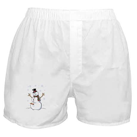 Naughty Snowman Boxer Shorts