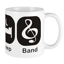 Eat, Sleep, Band logos/icons aligned in a row Mug