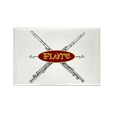 Flute Tribal Rectangle Magnet