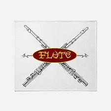 Flute Tribal Throw Blanket