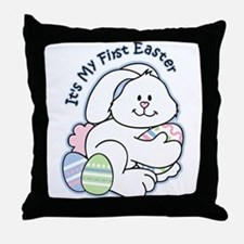 Bunny 1st Easter Throw Pillow
