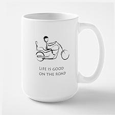 Motorcycle life is good Large Mug