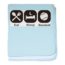 Eat, Sleep, Baseball baby blanket
