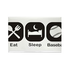 Eat, Sleep, Baseball Rectangle Magnet