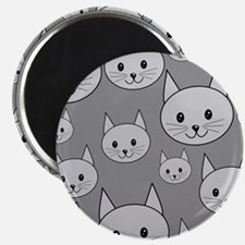 Gray Cats. Magnet