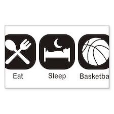 Eat, Sleep, Basketball Stickers
