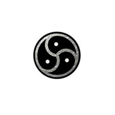 Silver Look BDSM Emblem Mini Button