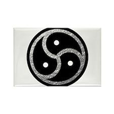 Silver Look BDSM Emblem Rectangle Magnet (100 pack