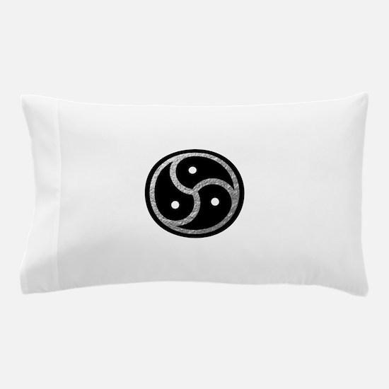 Silver Look BDSM Emblem Pillow Case