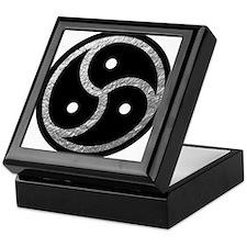 Silver Look BDSM Emblem Keepsake Box