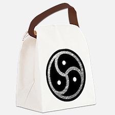 Silver Look BDSM Emblem Canvas Lunch Bag