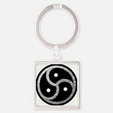 Silver Look BDSM Emblem Square Keychain