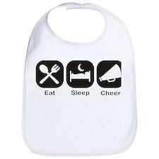 Eat, Sleep, Cheer Bib
