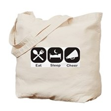 Eat, Sleep, Cheer Tote Bag