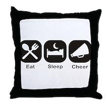 Eat, Sleep, Cheer Throw Pillow