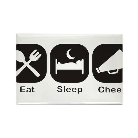 Eat, Sleep, Cheer Rectangle Magnet