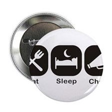 "Eat, Sleep, Cheer 2.25"" Button"