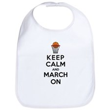Keep Calm and March On Bib