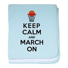Keep Calm and March On baby blanket