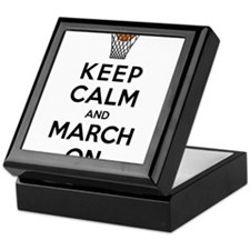 Keep Calm and March On Keepsake Box