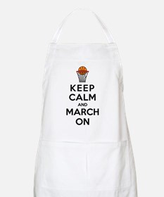 Keep Calm and March On Apron