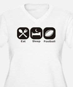 Eat, Sleep, Football Plus Size T-Shirt