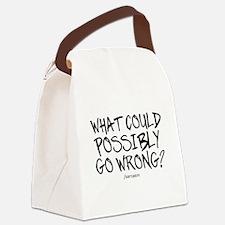 '/Sarcasm' Canvas Lunch Bag