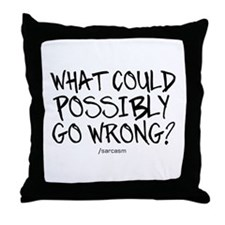'/Sarcasm' Throw Pillow
